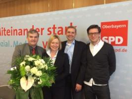 Ebersberger SPD Delegierte auf dem Bezirksparteitag