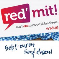 """Logo zur Veranstaltungsreihe """"Red' mit!"""""""