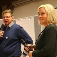 Ebersberger Bürgermeisterkandidat Uli Proske mit Doris Rauscher (MdL)