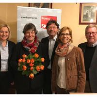Der neue Vorstand der SPD im Kreis Ebersberg. Nicht auf dem Foto: Cornelia Gütlich, Schriftführerin, und Markus Brennhäußer, Kassier