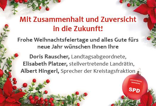 Frohe Weihnachten 2020 vom SPD-Kreisverband Ebersberg
