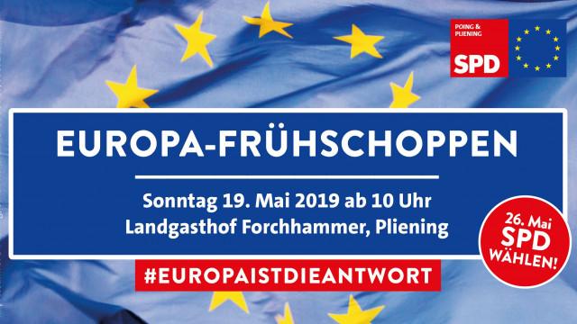 Gemeinsamer Europa-Frühschoppen der SPD-Ortsvereine Poing und Pliening