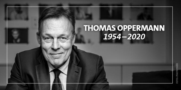 Zum Tot von Thomas Oppermann