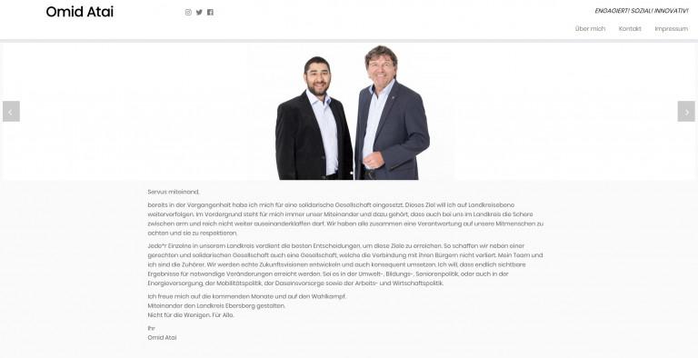 Homepage von Omid Atai