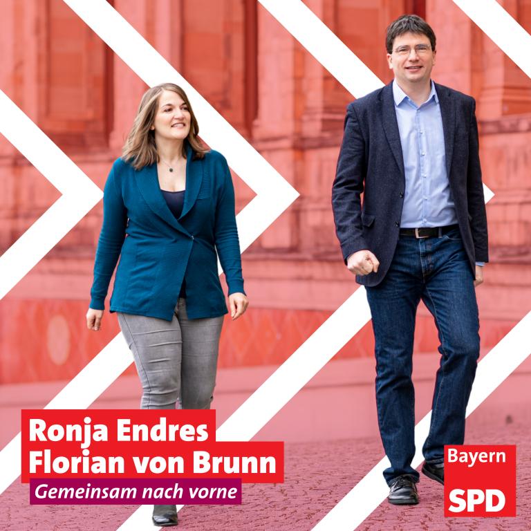 Ronja Endres und Florian von Brunn - Gemeinsam nach vorne! (Foto: Lennart Preiss Fotografie)